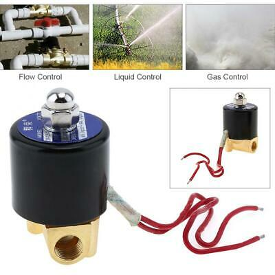 14 Ac 110v Electric Solenoid Pneumatic Valve Brass Body Kit For Wateroilgas