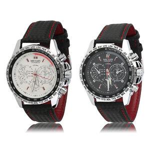 MEGIR-Fashion-Men-039-s-Casual-Watch-Quartz-Watch-Leather-Band-Wristwatch-BY