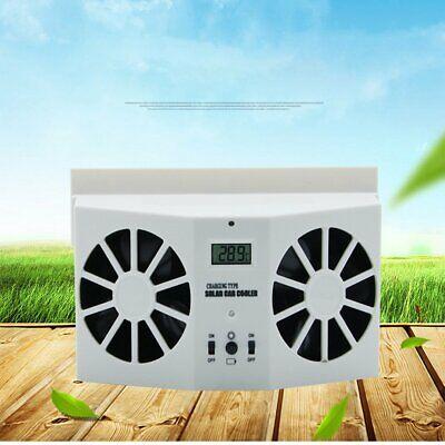 Solar Powered Car Window Air Vent Ventilator Cool Cooler Fan Windshield Fan WQ - Nicht Powered Vent