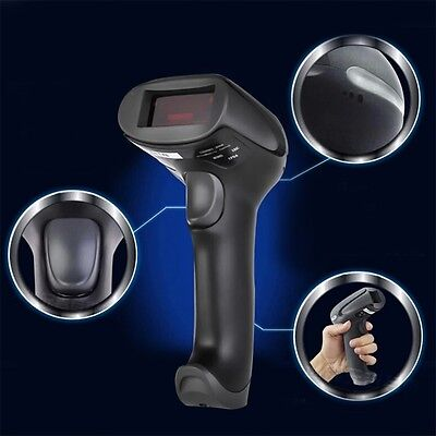 433MHz Wireless Laser Barcode Scanner Reader Memory Up To 500M Distance SU