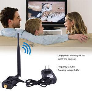 Pro 2.4GHZ 4W Wifi Wireless Broadband Amplifier Router Signal Booster ZM