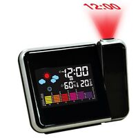 Digital Weather Lcd Projection Snooze Alarm Clock With Colorful Led Backlight Sv - unbranded - ebay.co.uk