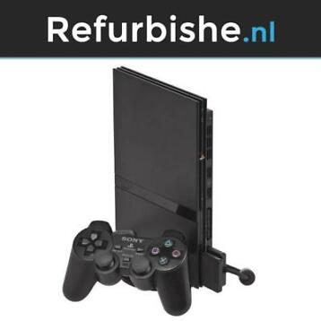 Zwarte Playstation 2 slim met Controller + Garantie (PS2)