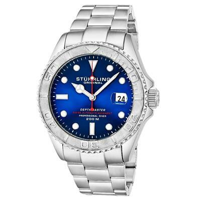Stuhrling 893 03 Automatic Depthmaster Diver Stainless Steel Date Mens Watch