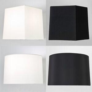 astro azumi tiquette tissu pointu carr rond abat jour table noir blanc ebay. Black Bedroom Furniture Sets. Home Design Ideas