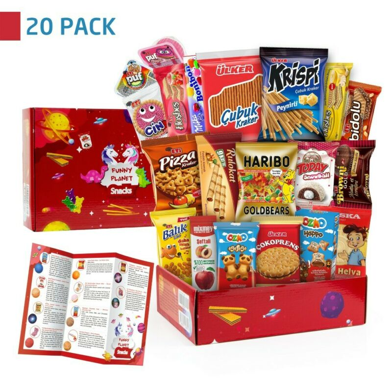 Funny Planet Ultimate Snack Care Package, Variety Assortment of Chips, Cookies
