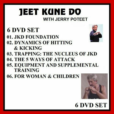 Jeet Kune Do 6 DVD Set by Jerry Poteet (trained by Bruce Lee ) JKD Wing Chun mma