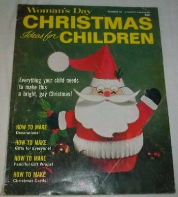 Vintage 1967 Woman's Day Christmas Ideas For Children Craft Magazine - Christmas Magazines For Kids