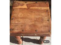 Corona Style chunky wooden table