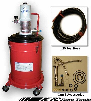 5 Gallons Air Operated High Pressure Grease Pump With ( 20FT Hose )