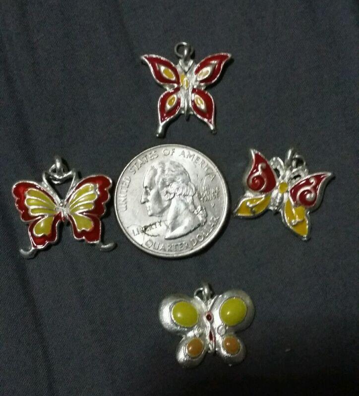 Sterling silver butterfly set 4pc