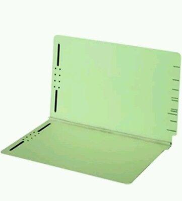 End Tab Pressboard Folders with Fasteners 2 in exp 2 in Fasteners Legal Green