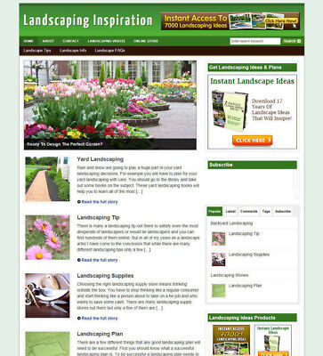 Landscape Gardeners Website Store With Hosting And New Domain