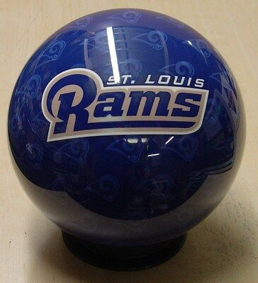 16 Bowling Ball Otb Viz-a-ball Nfl Rare 2010 St. Louis Rams