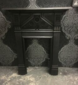 Stunning Reclaimed Cast Iron Metal Bedroom Fire Fireplace Surround - Uk Delivery