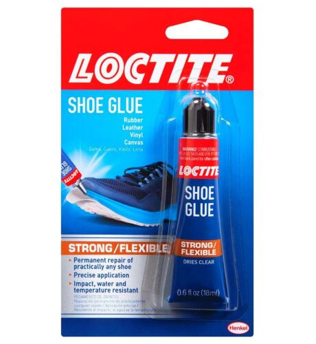 SHOE GLUR LOCTITE RUBBER LEATHER VINYL CANVAS WEATHER IMPACT RUNNING  WALKING