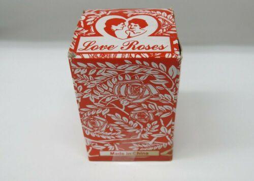 1 × Box Love Roses Glass Tube With Plastic Flower 36pcs