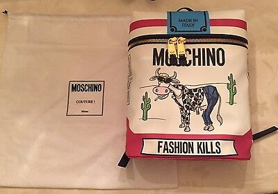 FW16 Moschino Couture X Jeremy Scott Cigarette Box Cow BACKPACK FASHION KILLS
