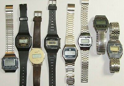 Job lot of Vintage Digital Watches Timex Braddon Sapna NE Chronograph 9104