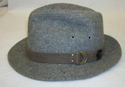 Vintage Wool Tweed Men's Fedora Hat 7 1/8