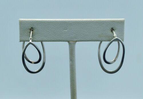 STERLING SILVER UNIQUE DESIGN LATCH EARRINGS   #FMP641