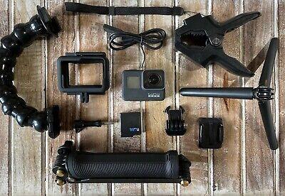 GoPro HERO7 Black Camera HD 4K CHDHX-701 Hero 7+32GB Card+Jaws Clamp + 3-Way Arm