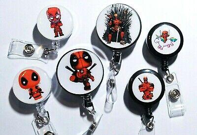 Deadpool Badge Reel Id Holder Or Stethoscope Id Tag - Marvel - Nurse Rn Xray-dp1