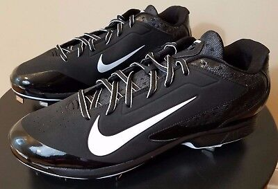 Mens Nike Huarache Pro Low Baseball Cleats - Black - Metal - Stability Traction