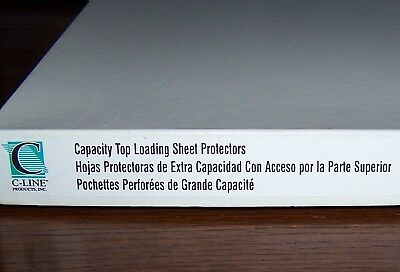 23 C-line Products Capacity Top-loading Sheet Protectors - 3-hole-punched 62020