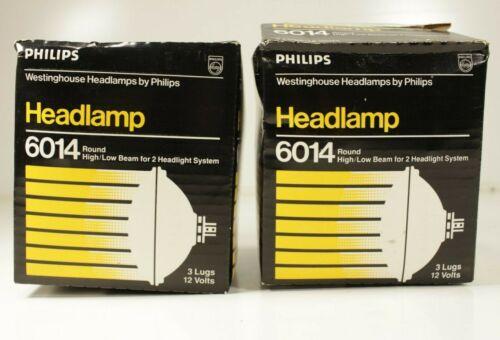 Pair (2) Vintage Westinghouse 6014 High/Low Beam Headlamp NOS