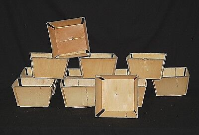 Wooden Farm Berry Box Baskets Quart Size Strawberry Crafts Weddings Lot 12 NEW - Berry Boxes