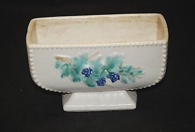 Old Vntage MCP McCoy Art Pottery Blackberry Dotted Planter Footed Garden MCM USA