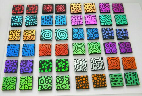 LOT 48 pcs ETCHED DICHROIC GLASS (ED20) CBS COE 90 FUSING SUPPLY