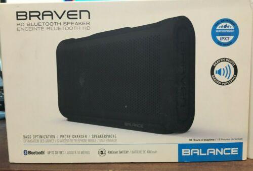 BRAVEN Balance Wireless Bluetooth Waterproof Portable Speaker (Black)