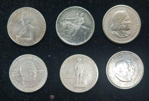 Lot of 6 Circulated U.S. Silver Commemorative Half Dollars 1892-1952 I843