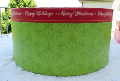 Hat Box Storage Christmas Ornaments Lights Garland Vintage 80