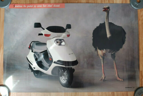 VTG 1987 HONDA ELITE SCOOTERS ADVERTISEMENT POSTER