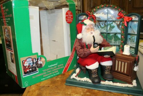 Holiday Creations Animated STORYTELLER SANTA 2 Dimensional Window Scene in Box!!