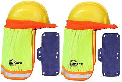 Hard Hat Neck Shield Construction Helmet Sun Protector Shade With Sweatband Set