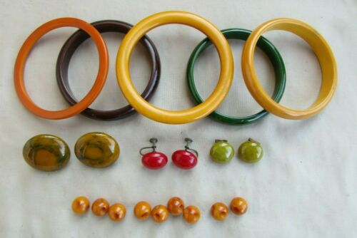 VINTAGE BAKELITE JEWELRY ~ BUTTONS ~ TESTED