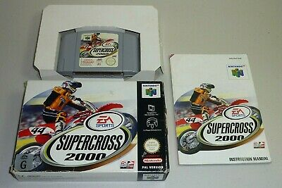 supercross 2000 game n64 pal nintendo 64 complete box manual