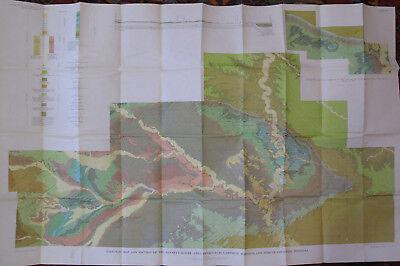 Color Geologic Map Winnett Mosby Petroleum Garfield Rosebud Fergus Co. Montana