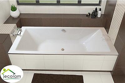 Badewanne Wanne Rechteck 200 x 90 cm Füße Ablauf Silikon Styroporverkleidung
