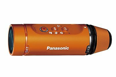 Panasonic HX-A1H-D HD Wareable Camcoder -Orange- *Free Shipping From Japan*