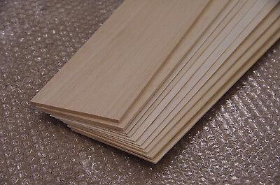 Balsa-Holz Brettchen 10 Stück - unterschiedlich lang und stark - siehe Text!