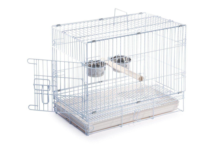 Prevue Hendryx Travel Bird Cage 1305 White, 20-Inch by 12-1/