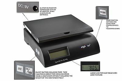 Digital Postal Scale Mail Shipping Letter Small Package 75 Lbs Postage 0.2oz