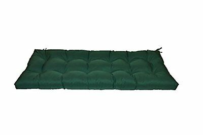 Tufted Cushion (In/Outdoor Cushion for Bench, Swing - Solid Hunter Green Tufted - Choose Size )