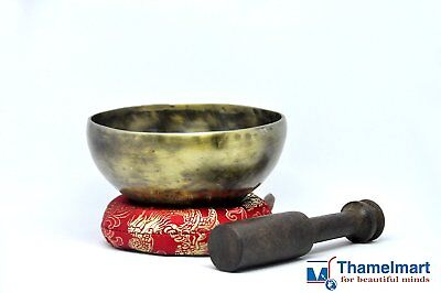 4 Inch Tibetan Singing bowl handmade brass(7metal)Handmade Free cushion & mallet