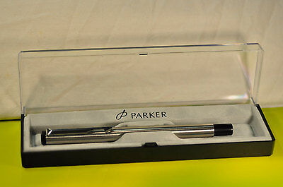 """Parker"" Vector Fountain Pen Stainless Steel /CT ""M""  nib Made in England 2006's"